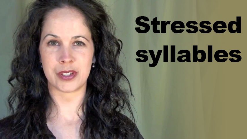 English Pronunciation: Stressed Syllables within a Word