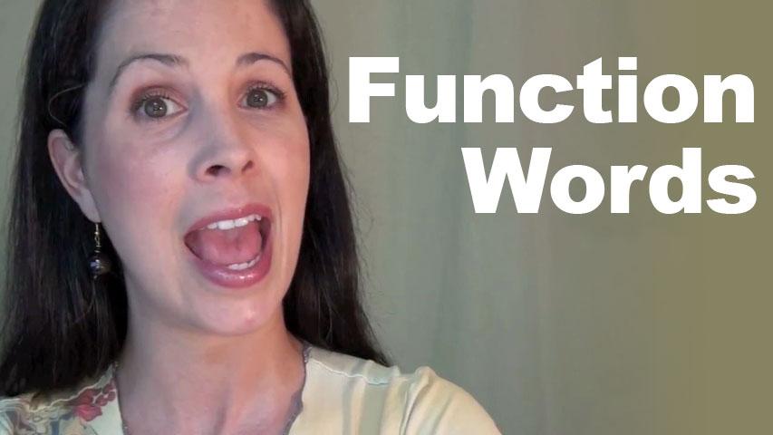 function words pronunciation intonation word stress rachel s