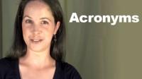Word Stress + Acronyms
