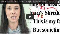 ESL Pronunciation Exercise: Breakfast (Ben Franklin Exercise)
