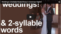 Weddings! 2-Syllable Words Stress