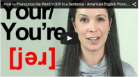 How to Pronounce the Word YOUR in a Sentence