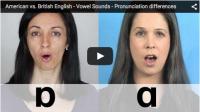 American vs. British English – Vowel Sounds – Pronunciation differences