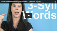 Word Stress and Three Syllable Words