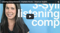Listening Comprehension: 3-Syllable Words