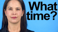 "How to Pronounce ""What Time?"""