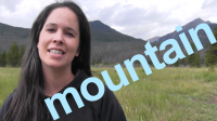 How to Say MOUNTAIN and SENTENCE
