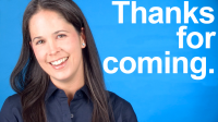 How to Say THANKS FOR COMING