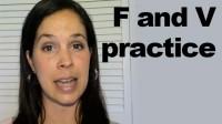 f & v Sounds Practice