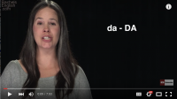 Stress Practice:  da-DA