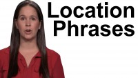 English Phrases – Where Something is Located