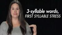 Syllable Stress – 3- Syllable Words