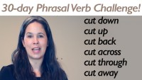 Phrasal Verb CUT part 1