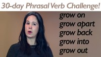 Phrasal Verb GROW