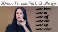 Phrasal Verb WRITE