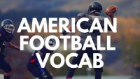American Football Vocabulary!